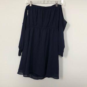 Strapless/Long Sleeve Dress